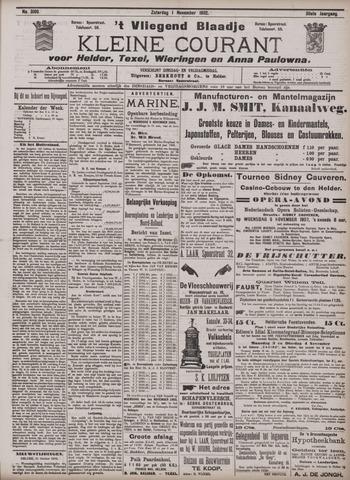Vliegend blaadje : nieuws- en advertentiebode voor Den Helder 1902-11-01