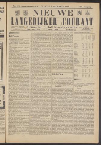 Nieuwe Langedijker Courant 1930-12-09
