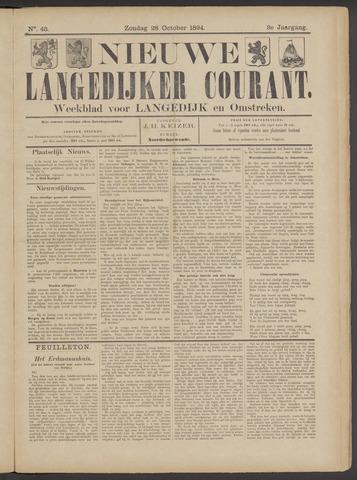 Nieuwe Langedijker Courant 1894-10-28