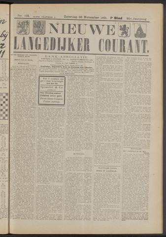 Nieuwe Langedijker Courant 1921-11-26