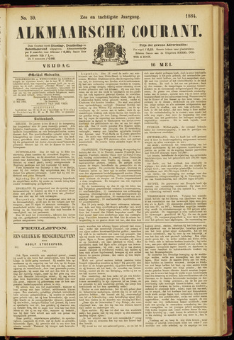 Alkmaarsche Courant 1884-05-16