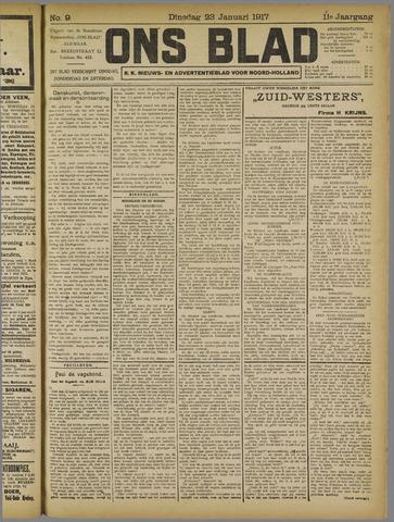 Ons Blad : katholiek nieuwsblad voor N-H 1917-01-23