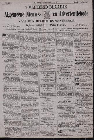 Vliegend blaadje : nieuws- en advertentiebode voor Den Helder 1875-12-25