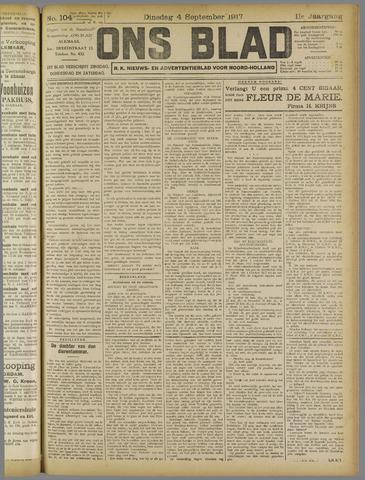 Ons Blad : katholiek nieuwsblad voor N-H 1917-09-04