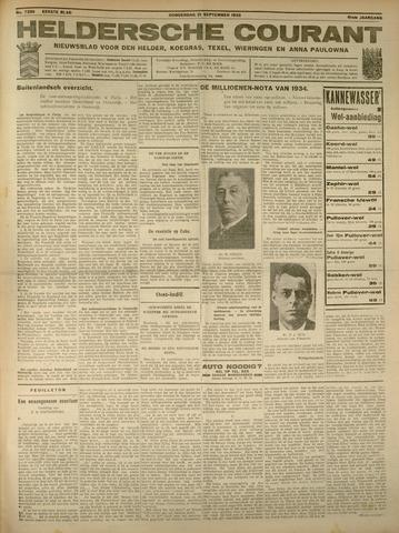 Heldersche Courant 1933-09-21