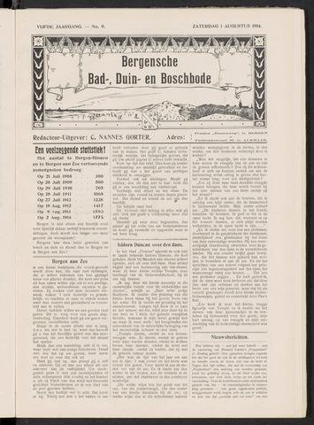 Bergensche bad-, duin- en boschbode 1914-08-01
