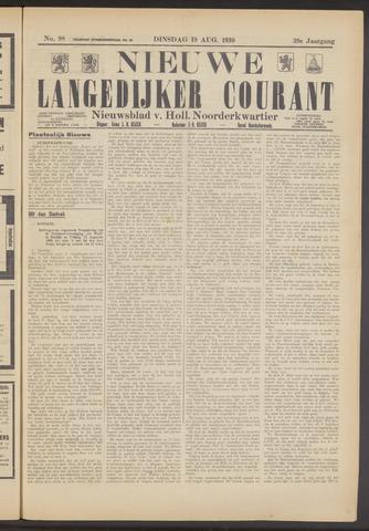 Nieuwe Langedijker Courant 1930-08-19
