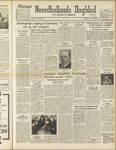 Nieuw Noordhollandsch Dagblad : voor Alkmaar en omgeving 1947-11-11