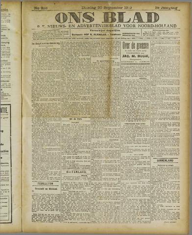 Ons Blad : katholiek nieuwsblad voor N-H 1919-09-30