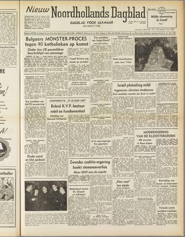 Nieuw Noordhollandsch Dagblad : voor Alkmaar en omgeving 1952-09-23