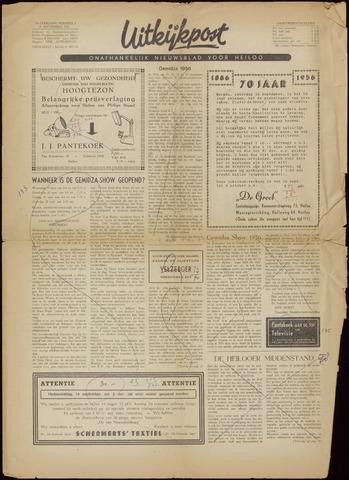 Uitkijkpost : nieuwsblad voor Heiloo e.o. 1956-09-14
