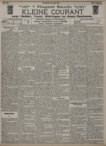 Vliegend blaadje : nieuws- en advertentiebode voor Den Helder 1908-04-22