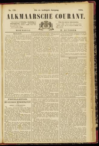 Alkmaarsche Courant 1884-10-22