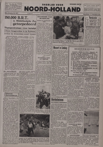 Dagblad Noord-Holland, Schager editie 1942-08-17