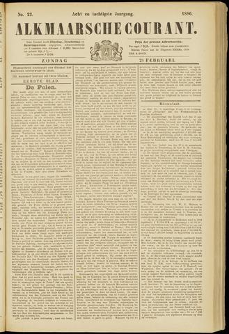 Alkmaarsche Courant 1886-02-21