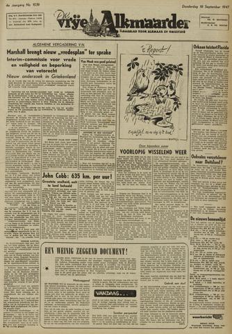 De Vrije Alkmaarder 1947-09-18