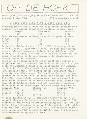 Op De Hoek, weekblad voor Akersloot 1962-06-08
