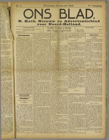 Ons Blad : katholiek nieuwsblad voor N-H 1908-01-29