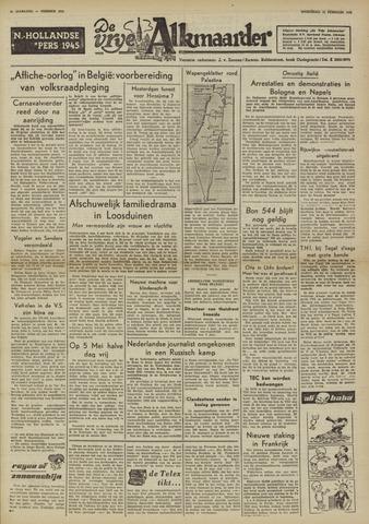 De Vrije Alkmaarder 1950-02-22