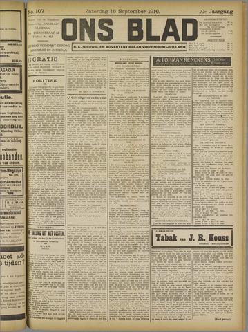 Ons Blad : katholiek nieuwsblad voor N-H 1916-09-16