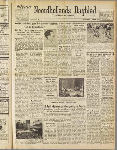 Nieuw Noordhollandsch Dagblad : voor Alkmaar en omgeving 1947-07-04