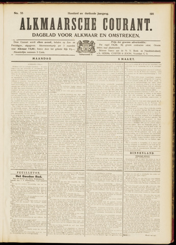 Alkmaarsche Courant 1911-03-06