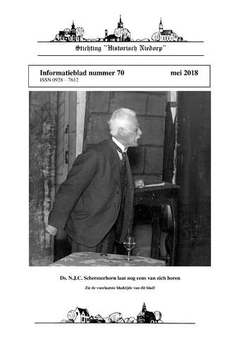 Informatieblad stichting Historisch Niedorp 2018