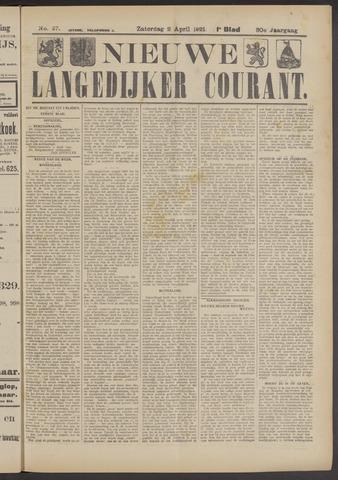 Nieuwe Langedijker Courant 1921-04-02