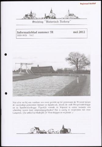 Informatieblad stichting Historisch Niedorp 2012-05-01
