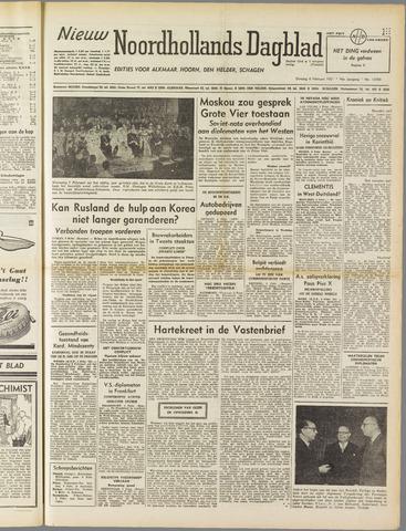 Nieuw Noordhollandsch Dagblad : voor Alkmaar en omgeving 1951-02-06