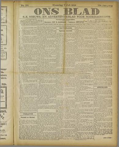Ons Blad : katholiek nieuwsblad voor N-H 1919-07-07