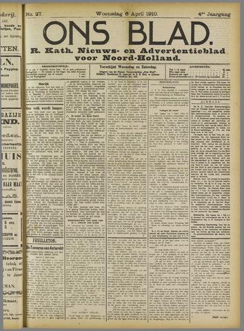 Ons Blad : katholiek nieuwsblad voor N-H 1910-04-06