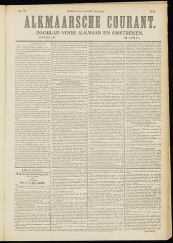 Alkmaarsche Courant 1914-04-21