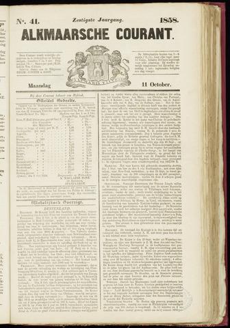 Alkmaarsche Courant 1858-10-11