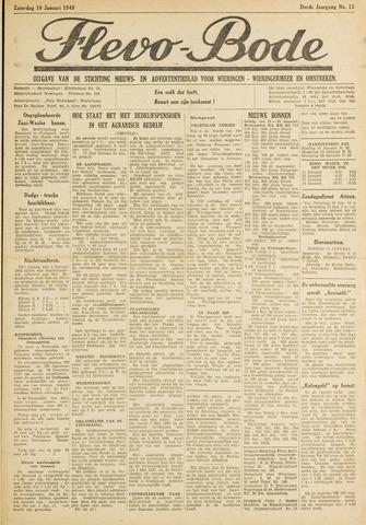 Flevo-bode: nieuwsblad voor Wieringen-Wieringermeer 1948-01-10