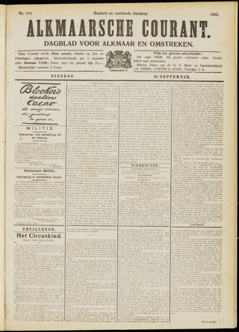 Alkmaarsche Courant 1912-09-10