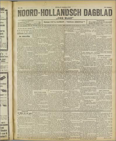 Ons Blad : katholiek nieuwsblad voor N-H 1922-09-26