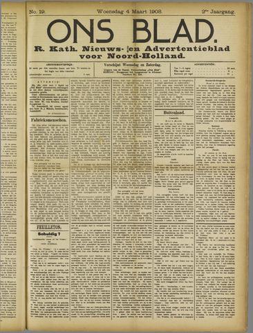 Ons Blad : katholiek nieuwsblad voor N-H 1908-03-04
