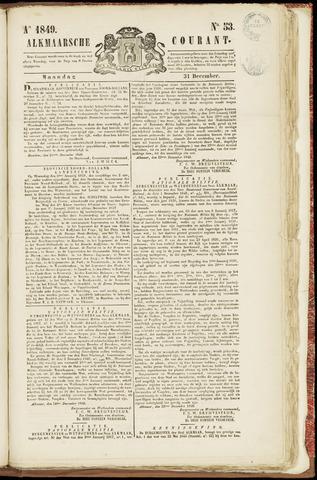 Alkmaarsche Courant 1849-12-31