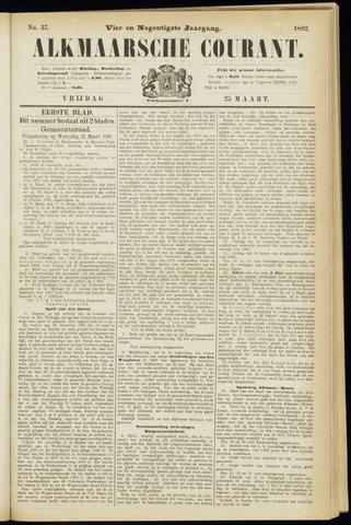 Alkmaarsche Courant 1892-03-25