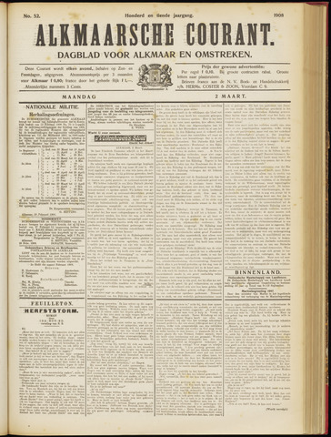 Alkmaarsche Courant 1908-03-02