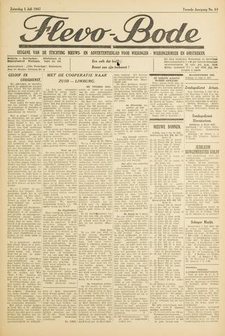 Flevo-bode: nieuwsblad voor Wieringen-Wieringermeer 1947-07-05
