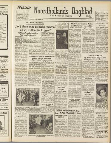Nieuw Noordhollandsch Dagblad : voor Alkmaar en omgeving 1947-11-15