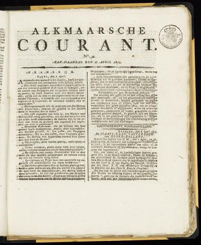 Alkmaarsche Courant 1815-04-17