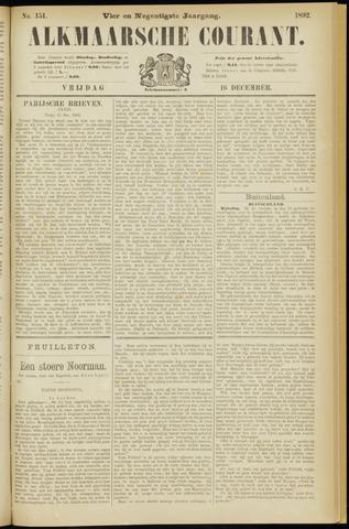Alkmaarsche Courant 1892-12-16