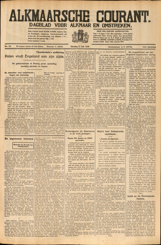 Alkmaarsche Courant 1939-07-11