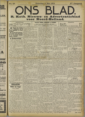 Ons Blad : katholiek nieuwsblad voor N-H 1912-05-14