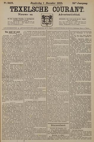 Texelsche Courant 1910-12-01