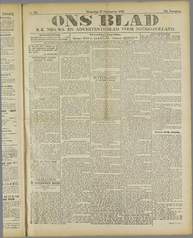 Ons Blad : katholiek nieuwsblad voor N-H 1920-12-27