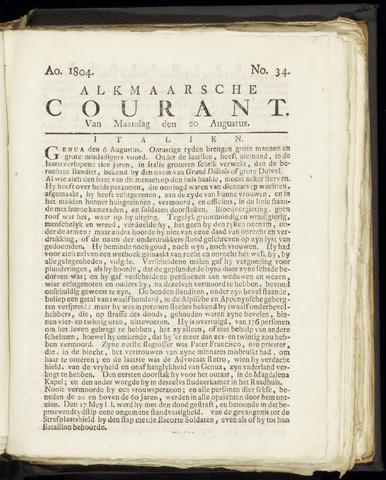 Alkmaarsche Courant 1804-08-20